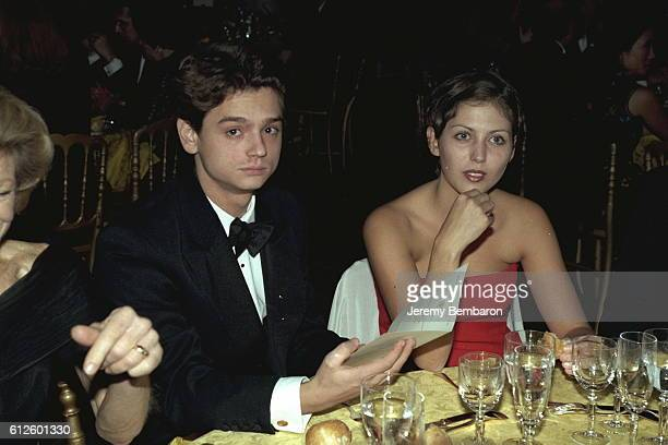Claudia Squitieri CCardinale's daughter and her boyfriend at dinner in the Chateau of Versailles