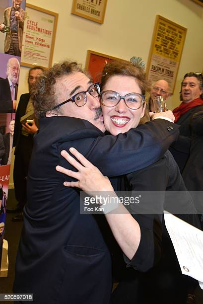 Claudia Squitieri daughter of Claudia Cardinale and director Ferid Boughedir attend Henri Langlois : 11th Award Ceremony At Maison de La Radio on...