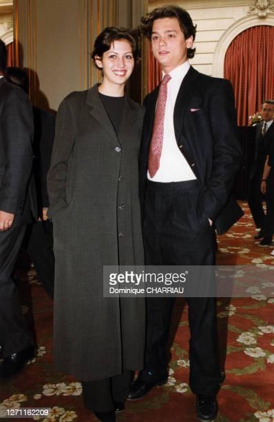 Claudia Squitieri, la fille de Claudia Cardinale lors de la réception le 22 juin 1999 à Paris, France.