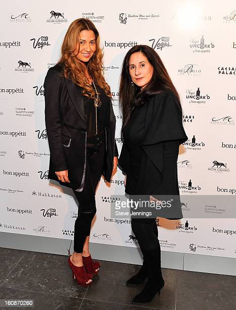 Claudia Suarez and Millie Hanley attend the Exclusive Preview of the 2013 Vegas Uncork'd By Bon Appetit at One Kearny Street on February 6 2013 in...