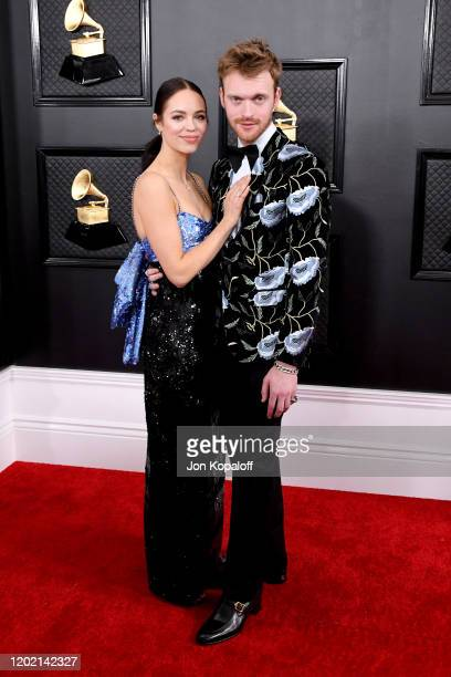 Claudia Sulewski and Finneas attend the 62nd Annual GRAMMY Awards at Staples Center on January 26 2020 in Los Angeles California