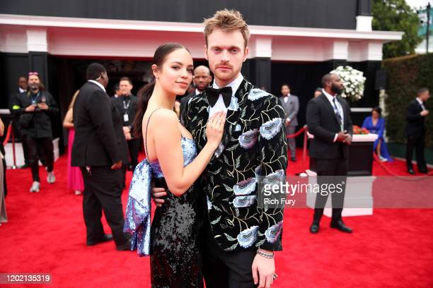 Claudia Sulewski and Finneas O'Connell attend the 62nd Annual GRAMMY Awards at STAPLES Center on January 26 2020 in Los Angeles California