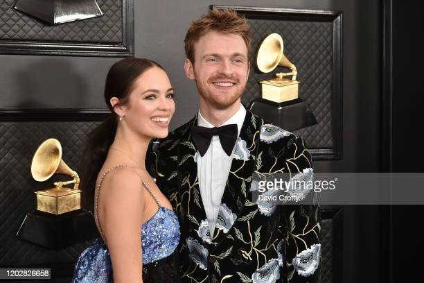 Claudia Sulewski and Finneas O'Connell attend the 62nd Annual Grammy Awards at Staples Center on January 26 2020 in Los Angeles CA