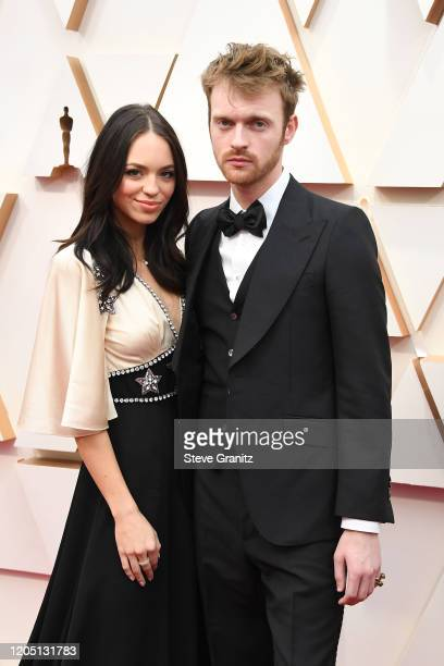 Claudia Sulewski and Finneas O'Connell attend the 92nd Annual Academy Awards at Hollywood and Highland on February 09 2020 in Hollywood California