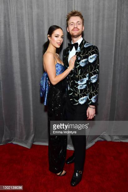 Claudia Sulewski and Finneas O'Connell attends the 62nd Annual GRAMMY Awards at STAPLES Center on January 26 2020 in Los Angeles California