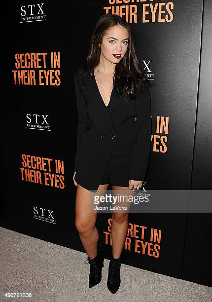 Claudia Sulewski attends the premiere of Secret in Their Eyes at Hammer Museum on November 11 2015 in Westwood California