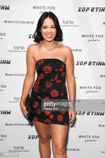 Claudia Sulewski attends White Fox Boutique Swimwear Launch Of 100% Salty at Catch on July 26 2018 in West Hollywood California