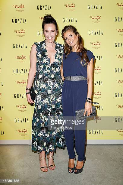 Claudia ten Hoevel and Cathy Fischer attend the GRAZIA Best Inspiration Award 2015 on May 06, 2015 in Berlin, Germany.
