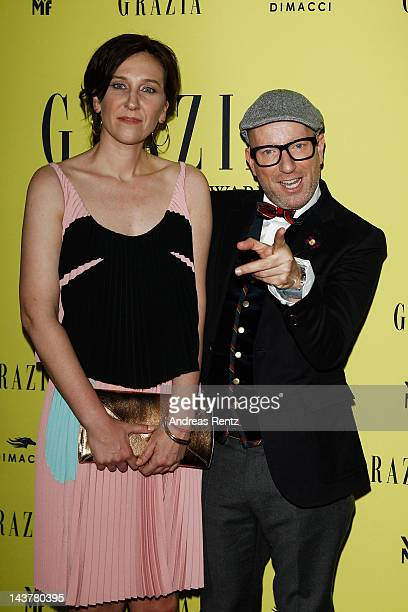 Claudia ten Hoevel and Thomas Rath attend the GRAZIA best dressed award at Panorama37 on May 3 2012 in Berlin Germany
