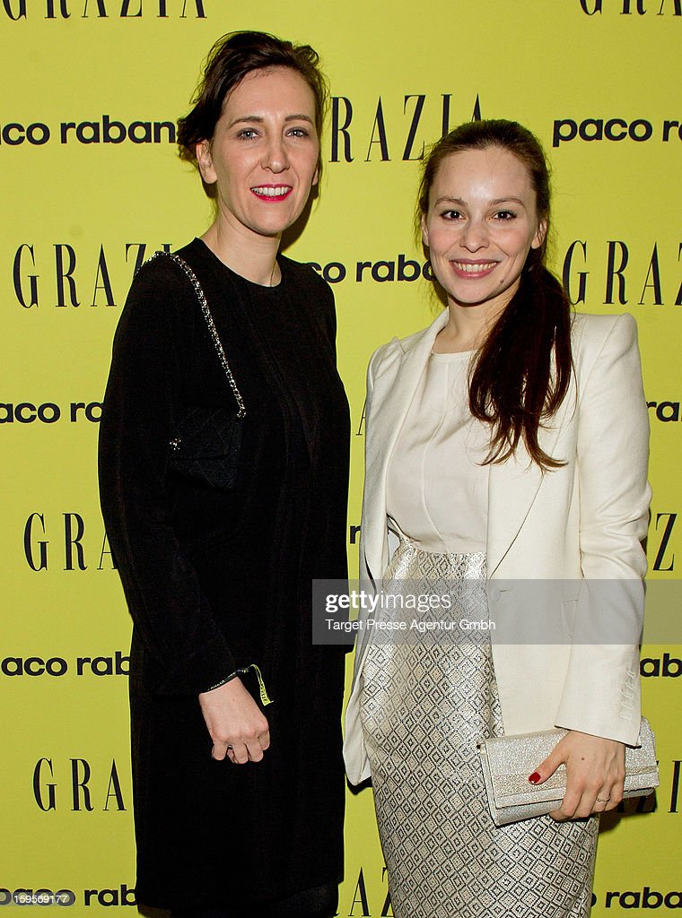 Claudia Ten Hoevel, chief editor of german Grazia and actress Mina Tander attend the Grazia Pop Up Casino during the Mercedes Benz Fashion Week Autumn/Winter 2013/14 at the Restaurant Uma on January 16, 2013 in Berlin, Germany.