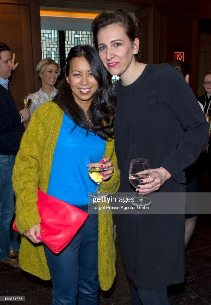 Claudia Ten Hoevel, chief editor of german Grazia and Minh-Khai Phan-Thi attend the Grazia Pop Up Casino during the Mercedes Benz Fashion Week Autumn/Winter 2013/14 at the Restaurant Uma on January 16, 2013 in Berlin, Germany.