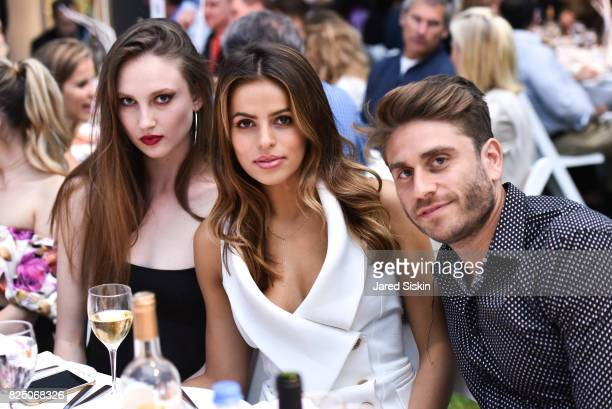 Claudia Todman Brooks Nader and Eric Marx attend The 24th Annual Watermill Center Summer Benefit Auction at The Watermill Center on July 29 2017 in...
