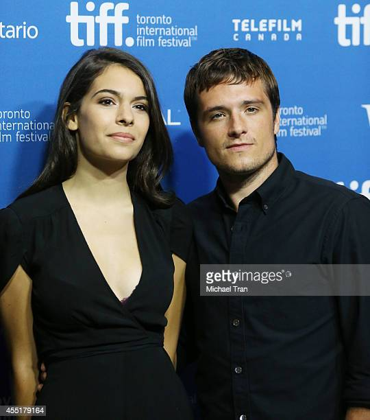 Claudia Traisac and Josh Hutcherson arrive at the photo call of Escobar Paradise Lost held during the 2014 Toronto International Film Festival Day 7...