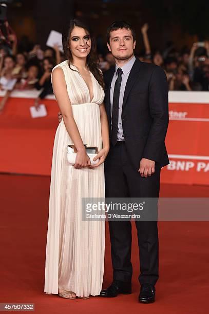 Claudia Traisac and Josh Hutcherson attend 'Escobar Paradise Lost' Red Carpet during the 9th Rome Film Festival at Auditorium Parco Della Musica on...