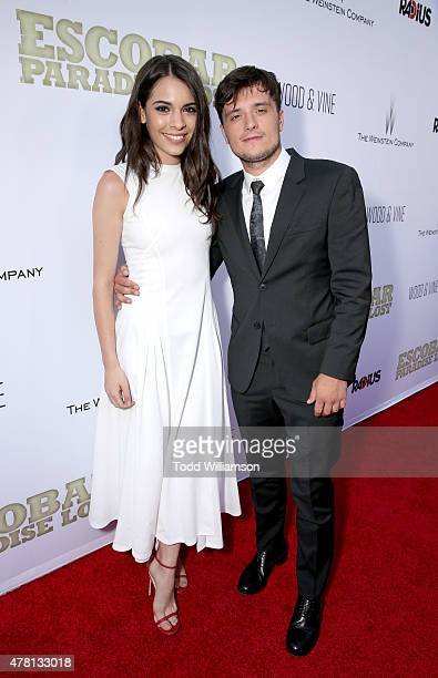 Claudia Traisac and Josh Hutcherson attend RADiUS' Los Angeles Premiere For Escobar Paradise Lost In Partnership With Wood Vine on June 22 2015 in...
