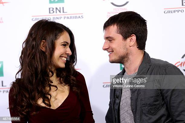 Claudia Traisac and Josh Hutcherson attend the 'Escobar Paradise Lost' Photocall during the 9th Rome Film Festival on October 19 2014 in Rome Italy