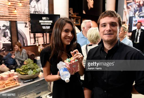 Claudia Traisac and Josh Hutcherson attends the Guess Portrait Studio during 2014 Toronto International Film Festival on September 10 2014 in Toronto...