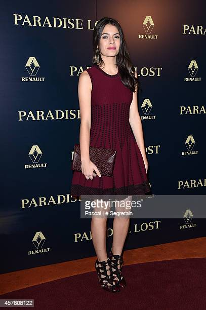 Claudia Traisac attends the Paris Premiere of Paradise Lost at Cinema Gaumont Marignan on October 21 2014 in Paris France
