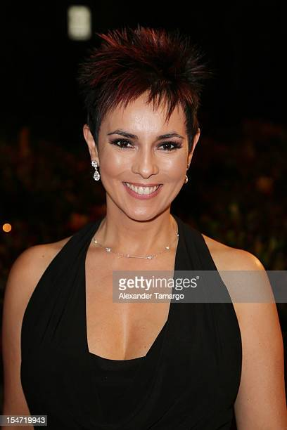 Claudia Trejos arrives at Sabado Gigante 50th Anniversary Celebration at Univision Headquarters on October 24 2012 in Miami Florida