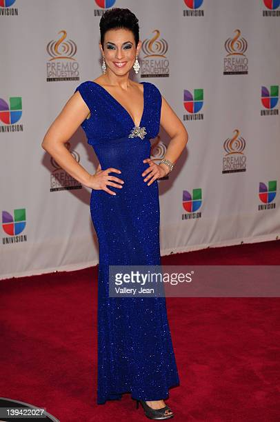 Claudia Trejos arrives at the Premio Lo Nuestro a La Musica Latina at American Airlines Arena on February 16 2012 in Miami Florida
