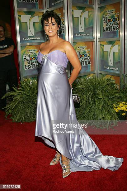 Claudia Trejos during 2005 Billboard Latin Music Awards Arrivals at Miami Arena in Miami Florida United States