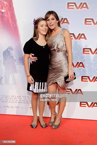 Claudia Vega and Marta Etura attend Eva premiere at Capitol cinema on October 25 2011 in Madrid Spain