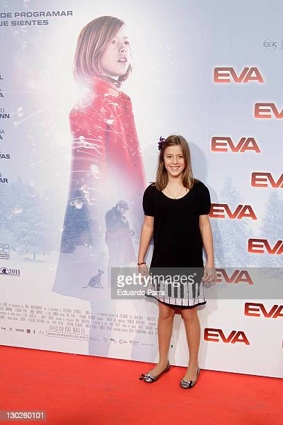 Claudia Vega attends Eva premiere at Capitol cinema on October 25 2011 in Madrid Spain