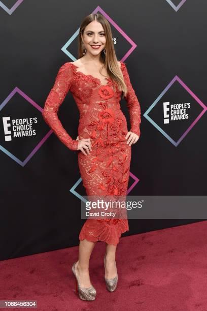 Claudia Vergara arrives at E People's Choice Awards at Barker Hangar on November 11 2018 in Santa Monica California