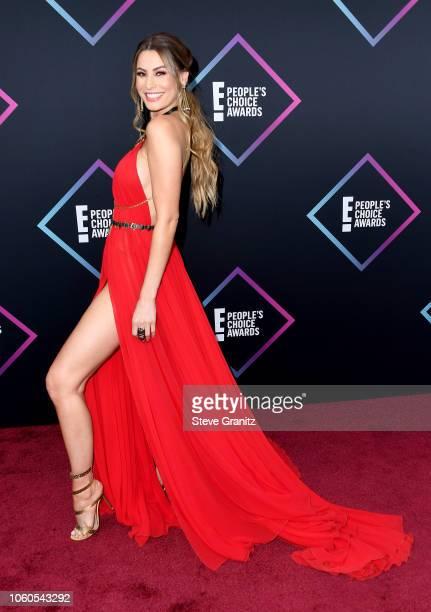 Claudia Vergara attends the People's Choice Awards 2018 at Barker Hangar on November 11 2018 in Santa Monica California
