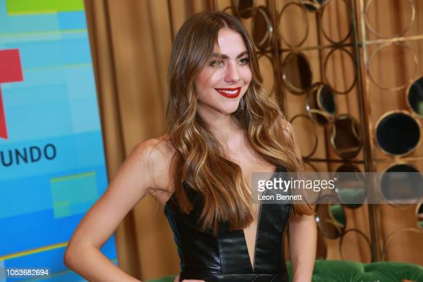 Claudia Vergara poses at the 2018 Latin American Music Awards Press Room at Dolby Theatre on October 25 2018 in Hollywood California