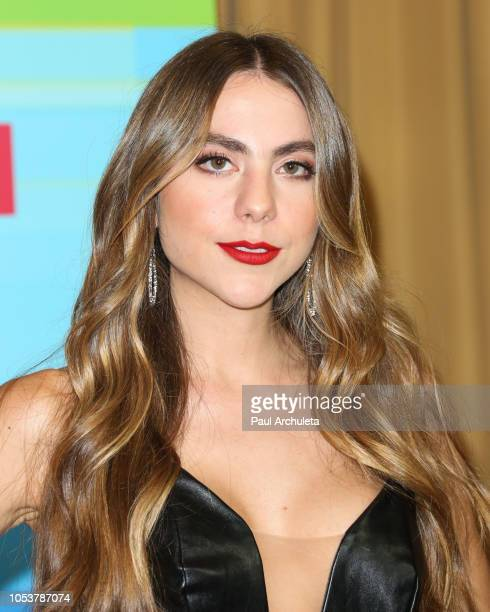 Claudia Vergara poses in the press room at the 2018 Latin American Music Awards at Dolby Theatre on October 25 2018 in Hollywood California