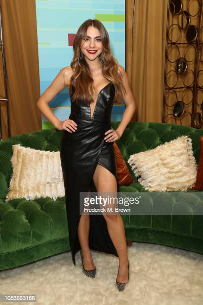 Claudia Vergara poses in the press room during the 2018 Latin American Music Awards at Dolby Theatre on October 25 2018 in Hollywood California