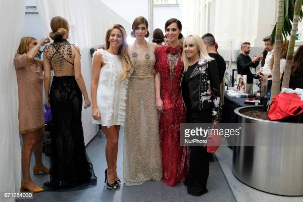 Claudia Villafañe attends the Ivana Picallo fashion show during the Madrid Bridal Week 2017 at Palacio de Cibeles on April 21 2017 in Madrid Spain