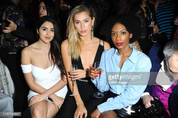 Claudia Visco Lily Douse and Tonique Campbell are seen during the LFW Nina Naustdal s/s19 catwalk show Designer previews its spring/summer 2019/2020...