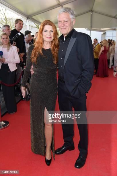 Claudia Wenzel and her husband Ruediger Joswig attend the 'Goldene Sonne 2018' Award by SonnenklarTV on April 7 2018 in Kalkar Germany