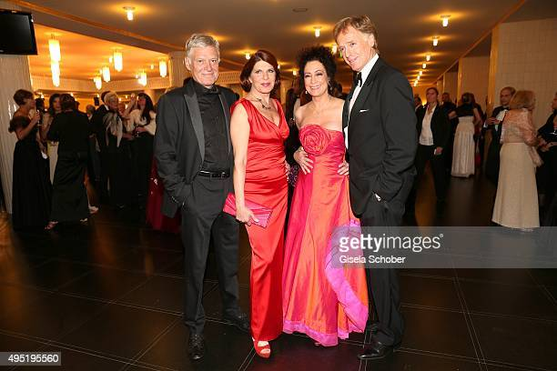 Claudia Wenzel and her partner Ruediger Joswig Barbara Wussow and her husband Albert Fortell during the Leipzig Opera Ball 2015 on October 31 2015 in...