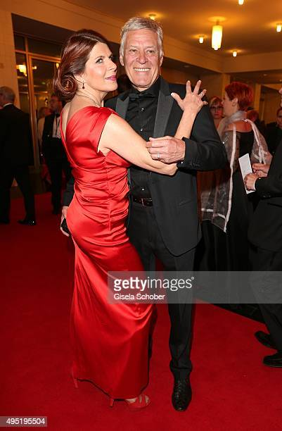 Claudia Wenzel and her partner Ruediger Joswig during the Leipzig Opera Ball 2015 on October 31 2015 in Leipzig Germany