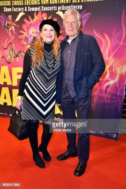 Claudia Wenzel and Ruediger Joswig attend the Afrika Afrika 2018 Show Premiere on January 23 2018 in Berlin Germany