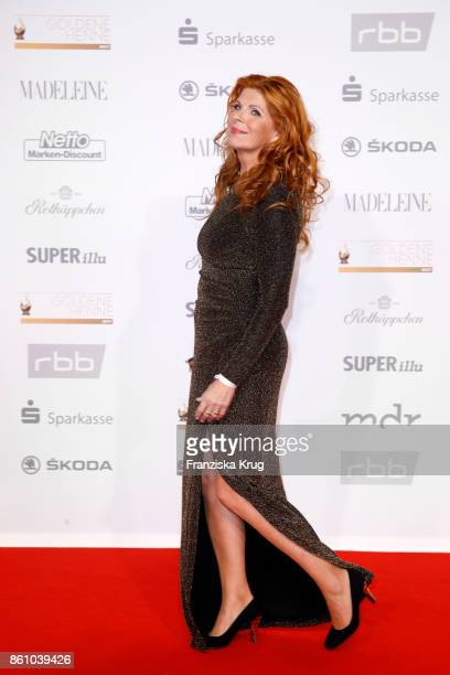 Claudia Wenzel attends the Goldene Henne on October 13 2017 in Leipzig Germany