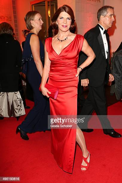 Claudia Wenzel during the Leipzig Opera Ball 2015 on October 31 2015 in Leipzig Germany