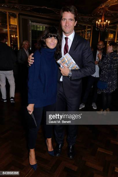 """Claudia Winkleman and her husband Kris Thykier attend the launch of new book """"David Bowie: A Life"""" at the Hotel Cafe Royal on September 7, 2017 in..."""