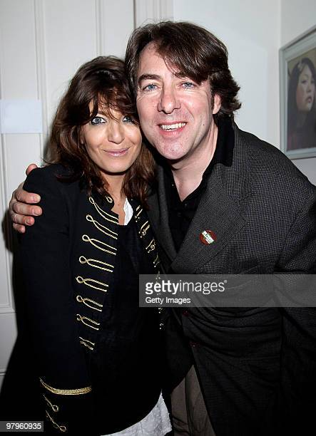 Claudia Winkleman and Jonathon Ross attend the KickAss European Film Premiere afterparty at director Matthew Vaughn's house on March 22 2010 in...