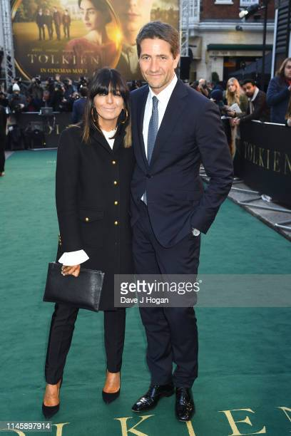 Claudia Winkleman and Kris Thykier attend the Tolkien UK premiere at The Curzon Mayfair on April 29 2019 in London England