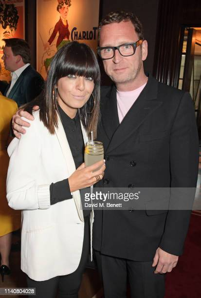 Claudia Winkleman and Mark Wogan attend a private dinner to celebrate Dylan Jones' 20th anniversary as EditorInChief of British GQ at The Beaumont...