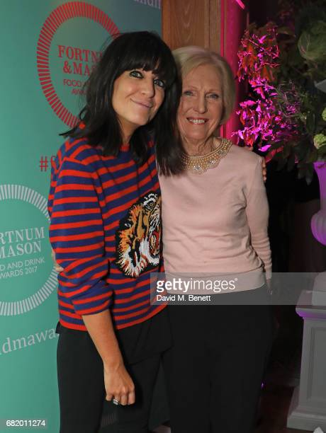 Claudia Winkleman and Mary Berry at the fifth annual Fortnum Mason Food and Drink Awards on May 11 2017 in London England