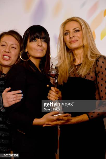 "Claudia Winkleman and Tess Daly accept the award for Best Talent Show for ""Strictly Come Dancing"" at the National Television Awards 2020 at The O2..."