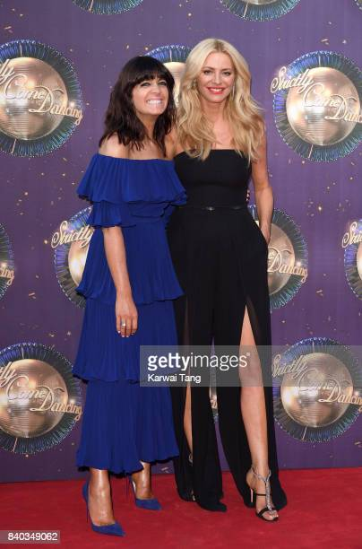 Claudia Winkleman and Tess Daly attend the 'Strictly Come Dancing 2017' red carpet launch at Broadcasting House on August 28 2017 in London England