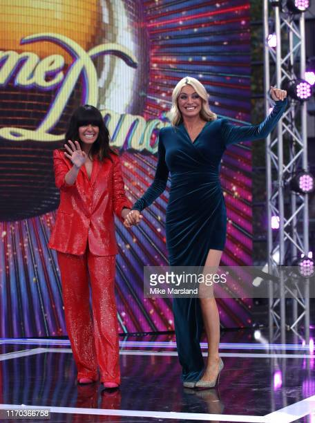 Claudia Winkleman and Tess Daly attend the Strictly Come Dancing launch show red carpet at Television Centre on August 26 2019 in London England