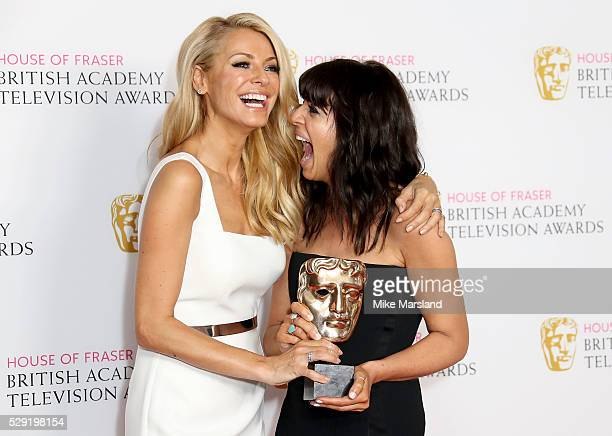 Claudia Winkleman and Tess Daly pose with the the Best Entertainment Programme award for 'Strictly Come Dancing' in the winners room at the House Of...