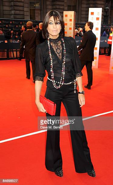 Claudia Winkleman arrives at The Orange British Academy Film Awards 2009 at the Royal Opera House on February 8 2009 in London England